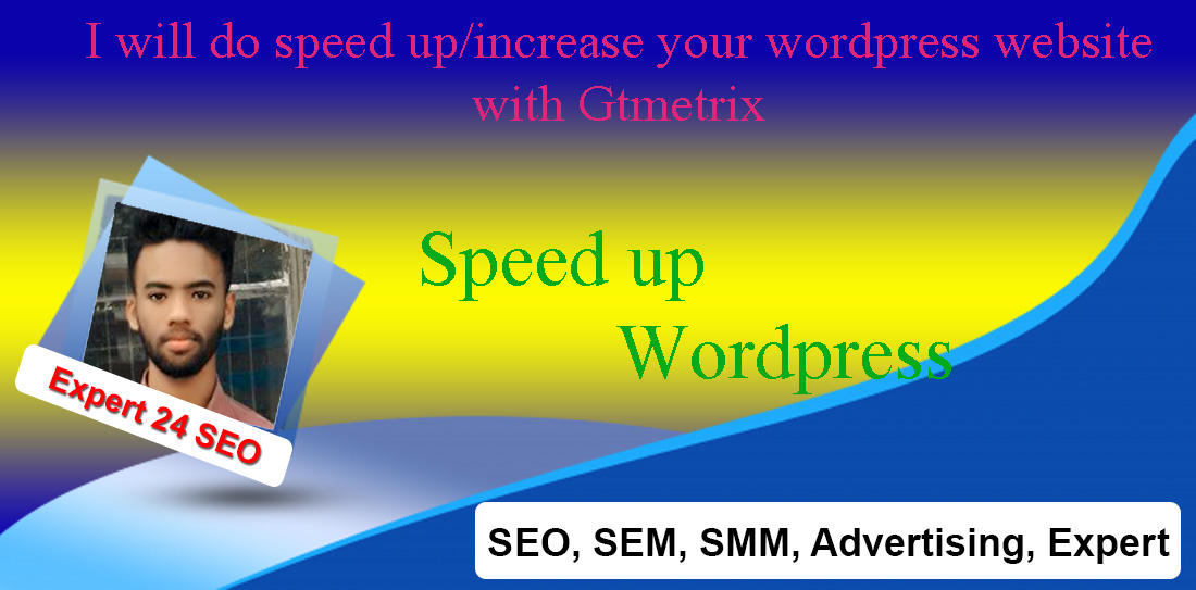 I will do speed up/increase your wordpress website with Gtmetrix