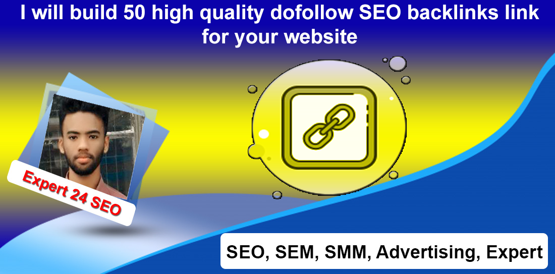 I will build 50 high quality dofollow SEO backlinks link for your website