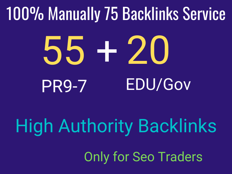I will manually do 55 PR9 + 20 EDU/GOV Safe SEO High Pr Backlinks 2021 Best Results