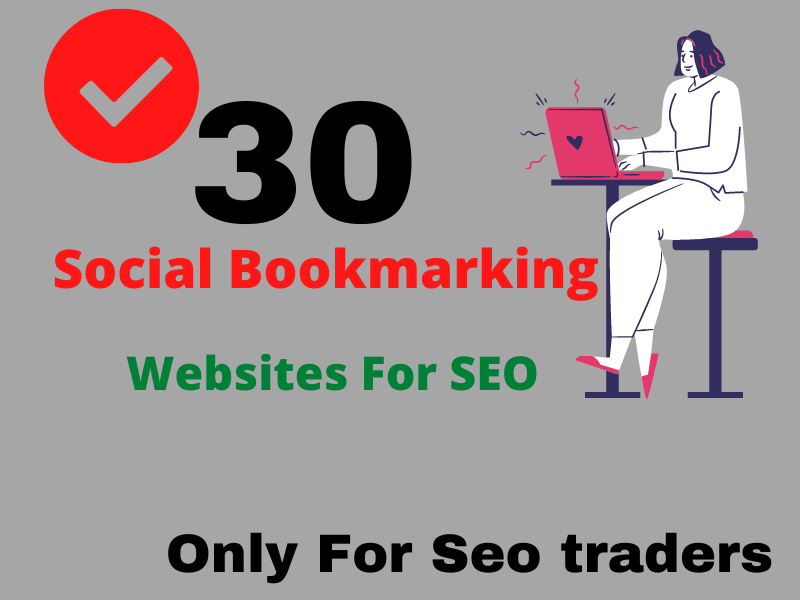 I will create 30 social bookmark backlinks manually