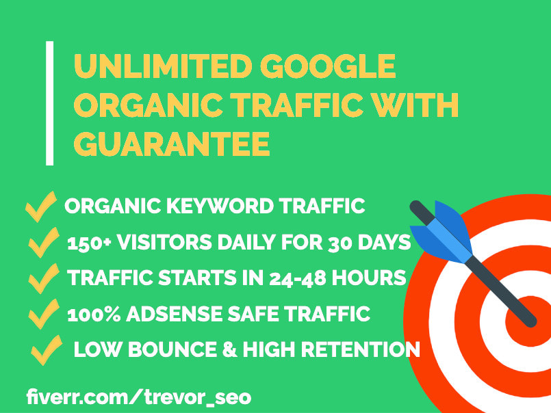 I will drive 30 days organic google search traffic with keywords