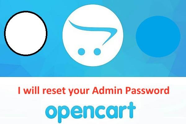 I will reset your opencart admin password
