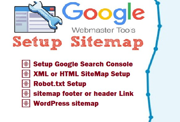 I will manually create XML html footer sitemap fix robots txt