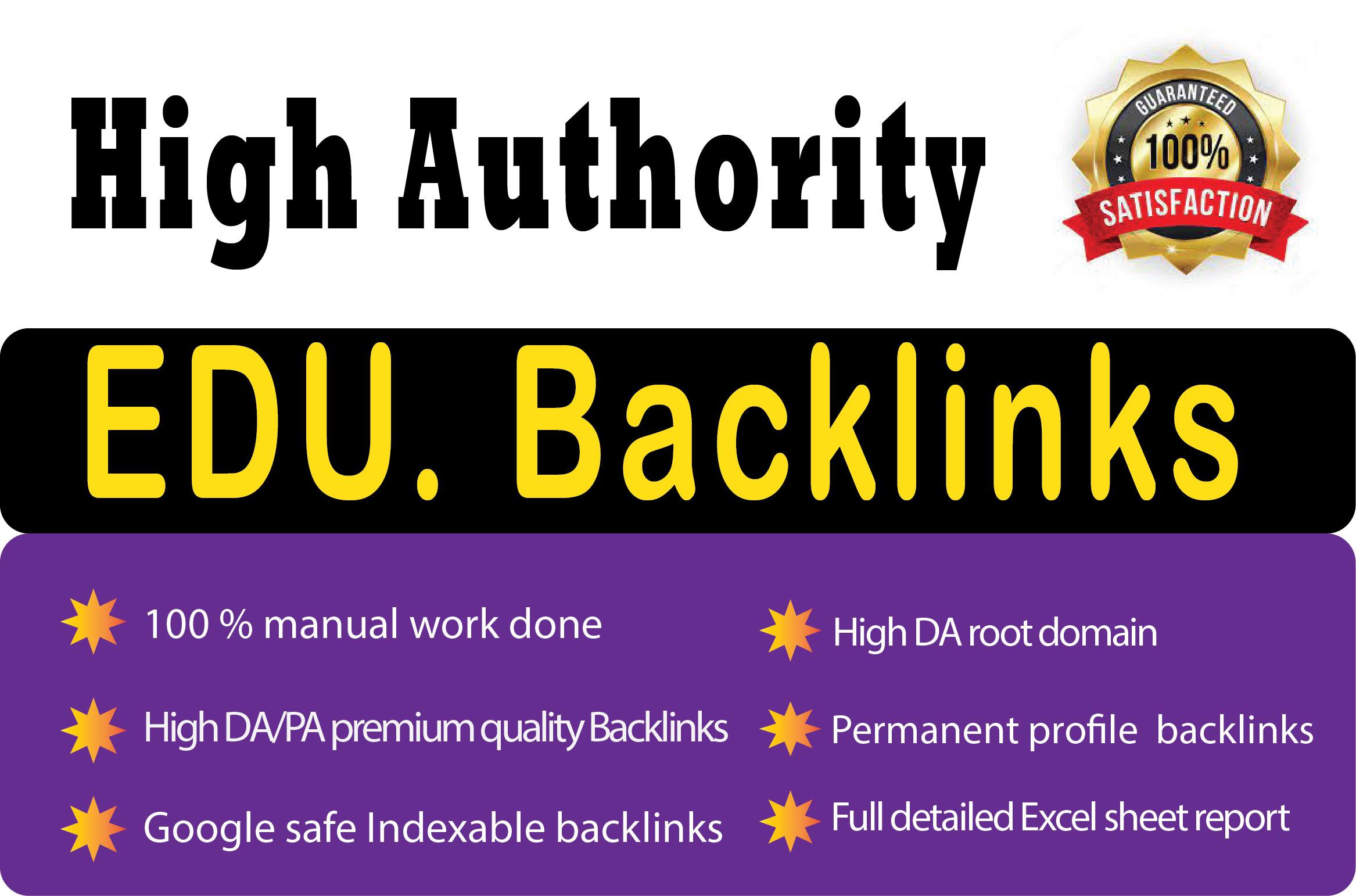 Create 300 high authority edu gov profile backlinks