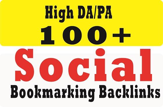 provide 100+ social bookmarking on high da dofollow backlinks