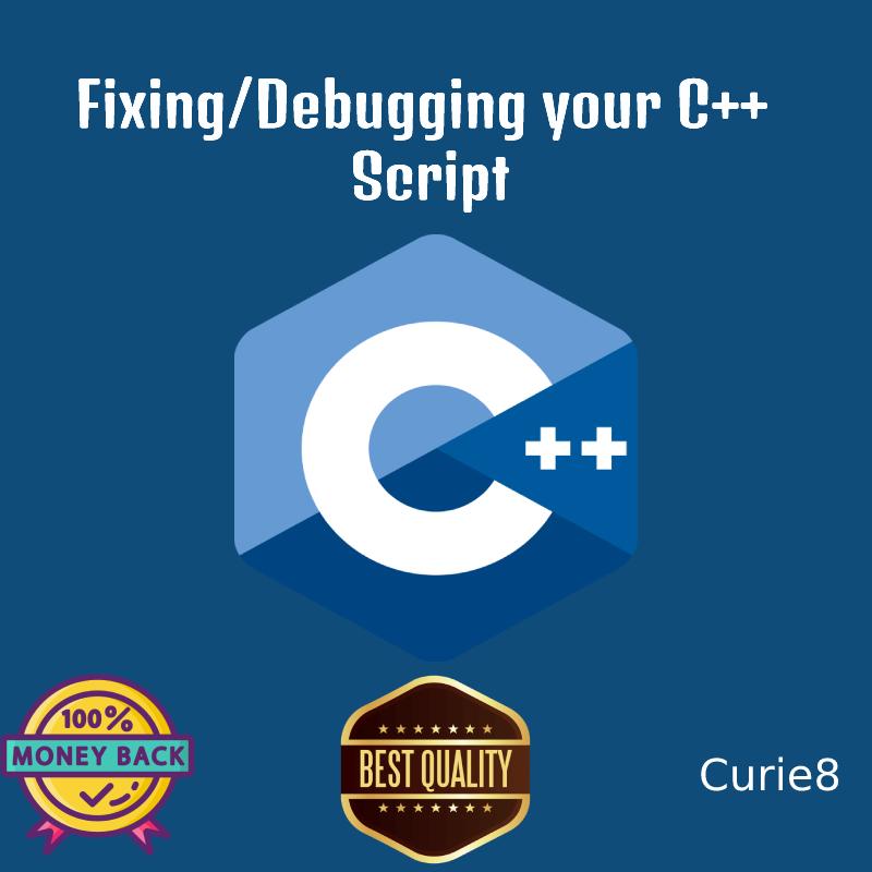 Fixing/Debugging your Cpp script