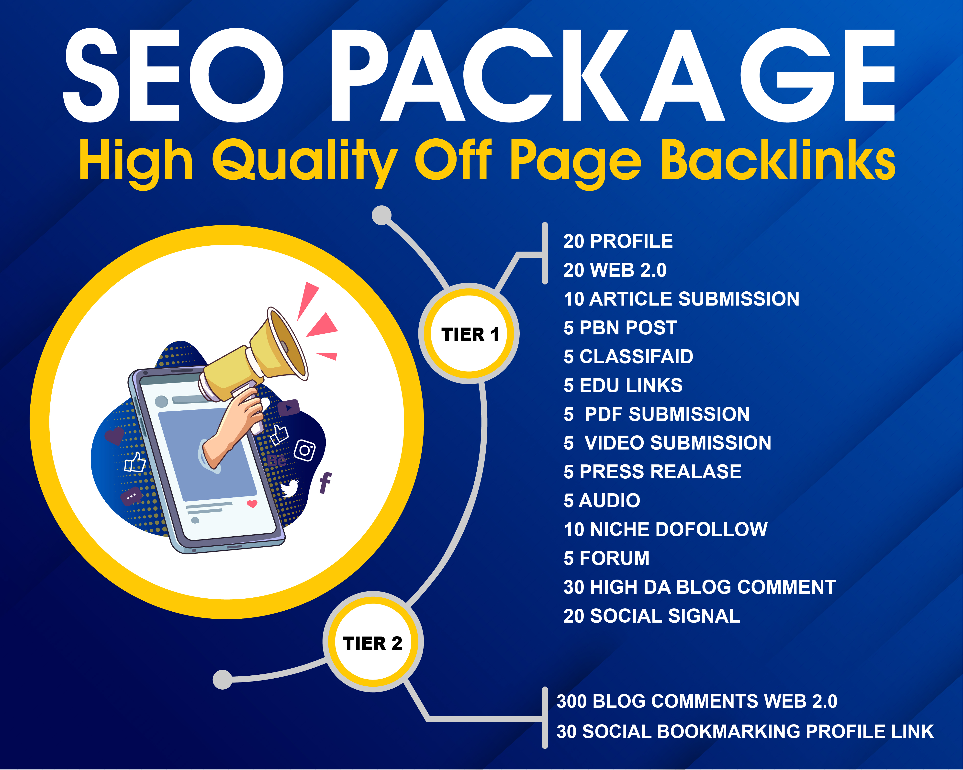 I Can Provide SEO Package High Quality Off Page Backlinks