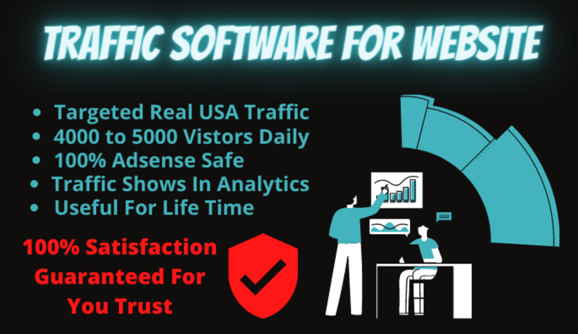 Human website traffic software generate USA real visitors