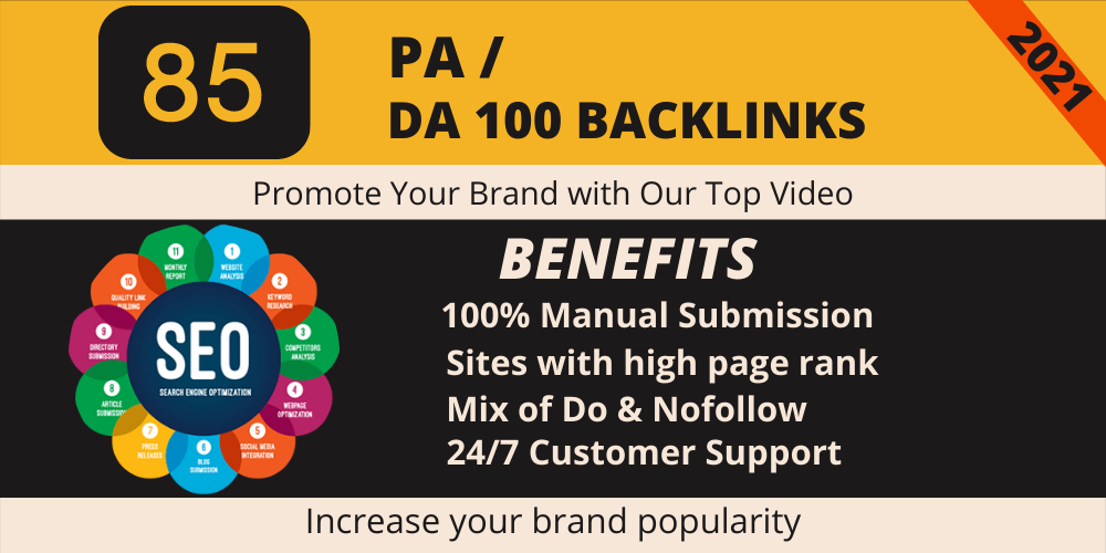 I will do video submission and upload On different high 85 DA/PA Websites