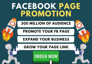I will promote and advertise your Facebook page organicaly