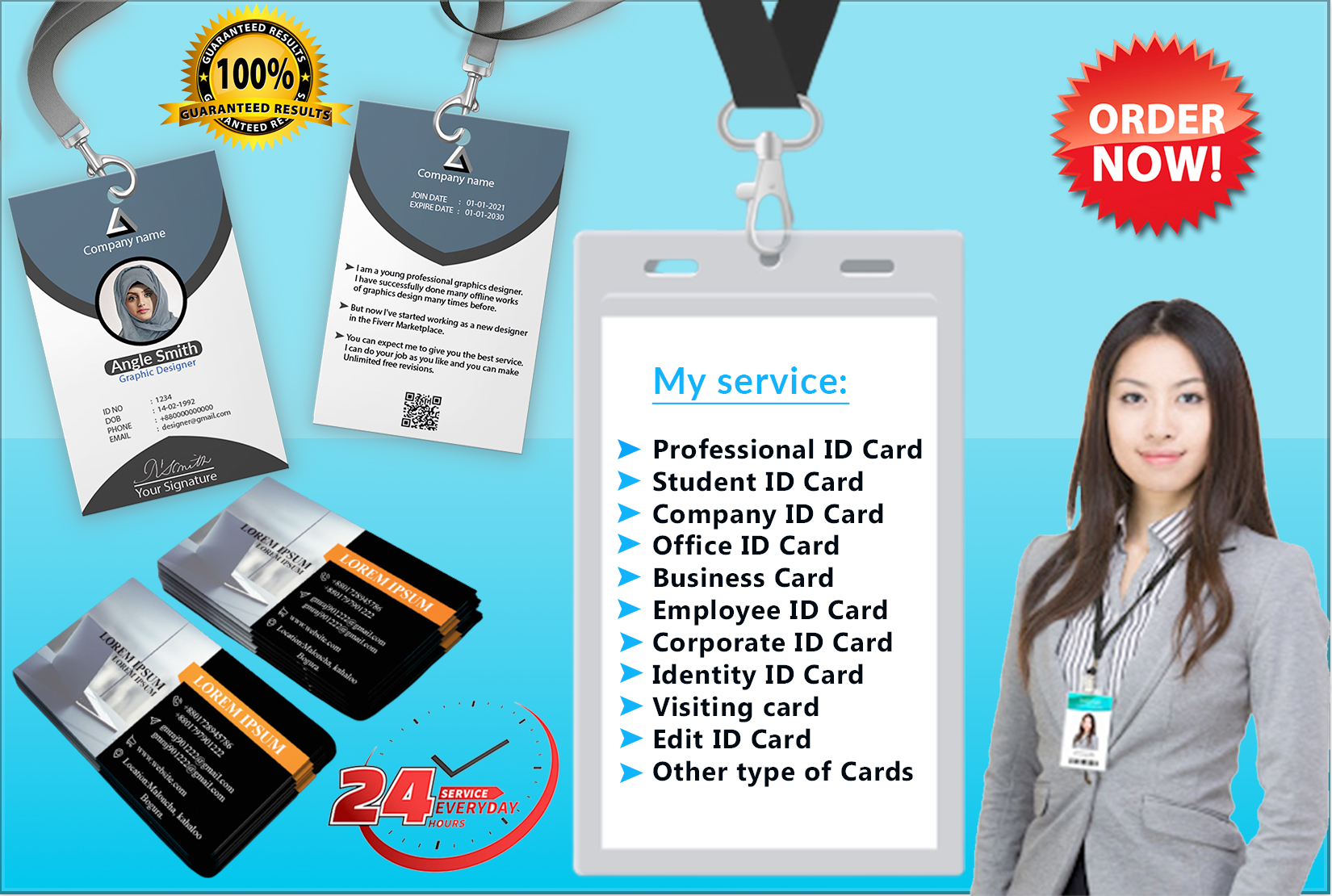 I will design professional any Business card identity card