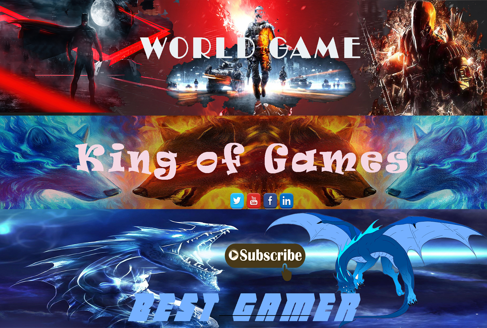 I will design professional any YouTube banner and gaming banner