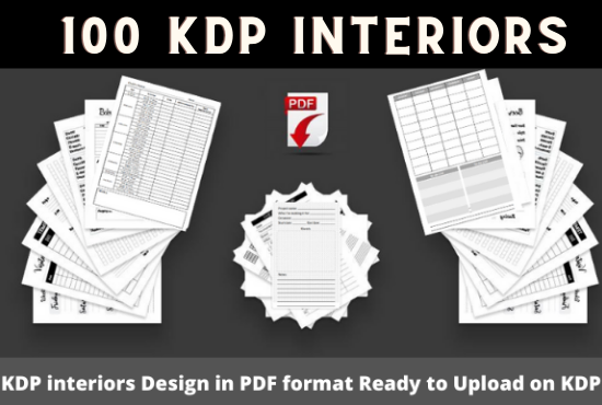 100 KDP Interiors To Start Your Low Content Business