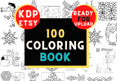 100 coloring book High converting ready for upload