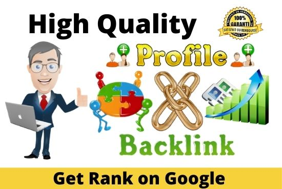 Get 100 High-Quality Profile Creation Backlinks for your Websites