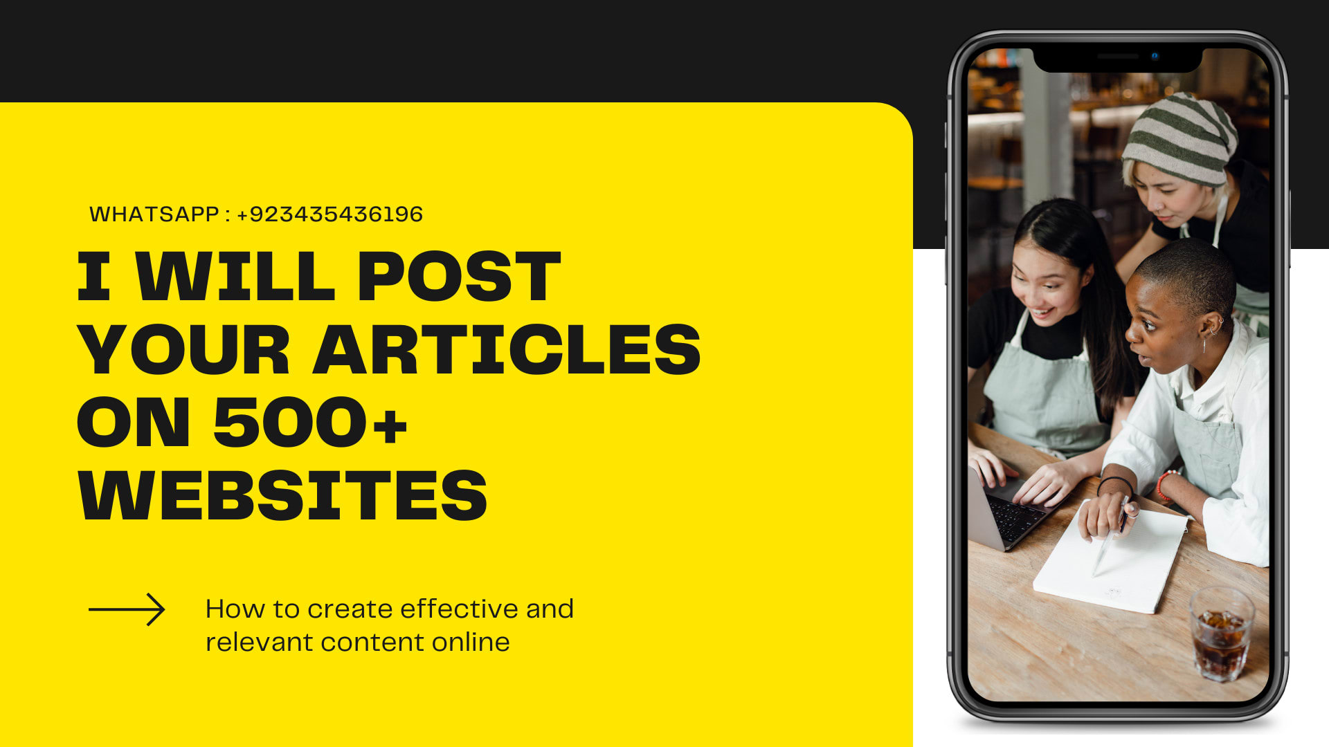 I will write and publish article for you on 500+ websites