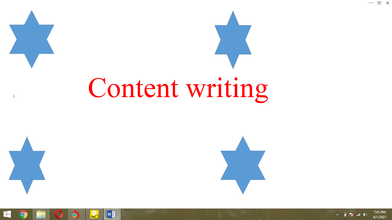 Creative and Article writing 275 words per page