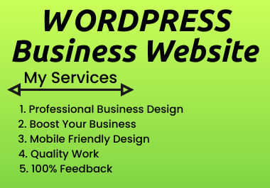 I will create Professional wordpress website.