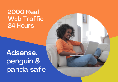 I will send 2000 organic web traffic in just 48 hours Adsense and panda safe
