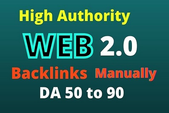 builds high authority 20 manual web 2.0 backlinks.