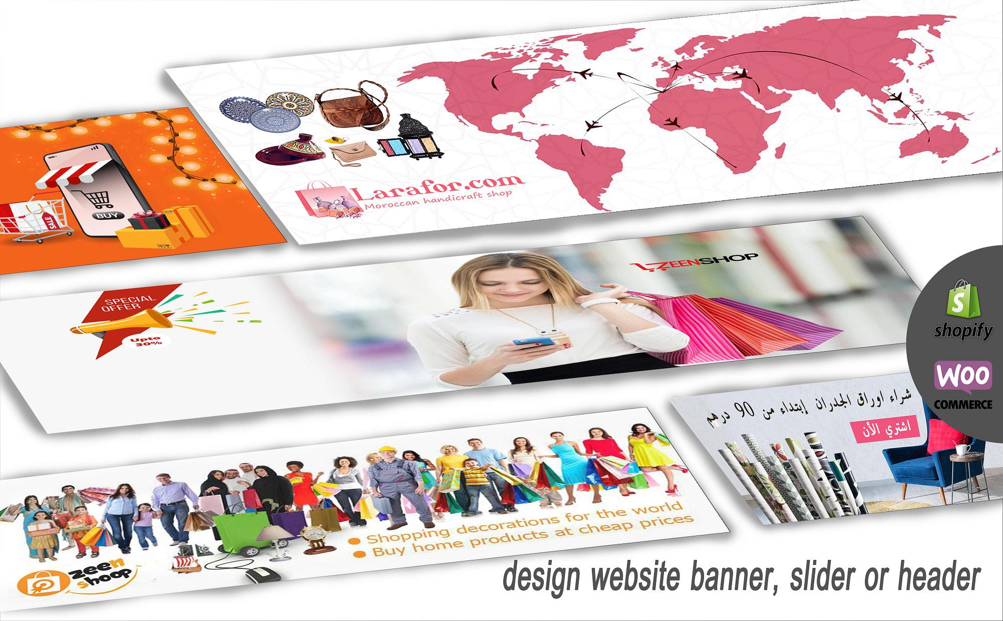 I will design banner,  slider or header your website shopify