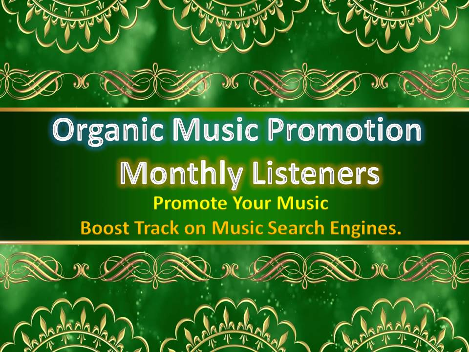Increase Real Organic Music High Quality USA Monthly Listeners For Your Music Promotion