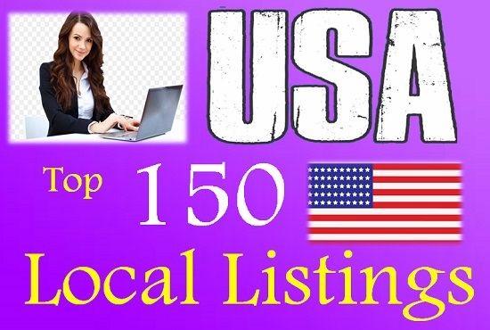 I will do 150 USA local citations