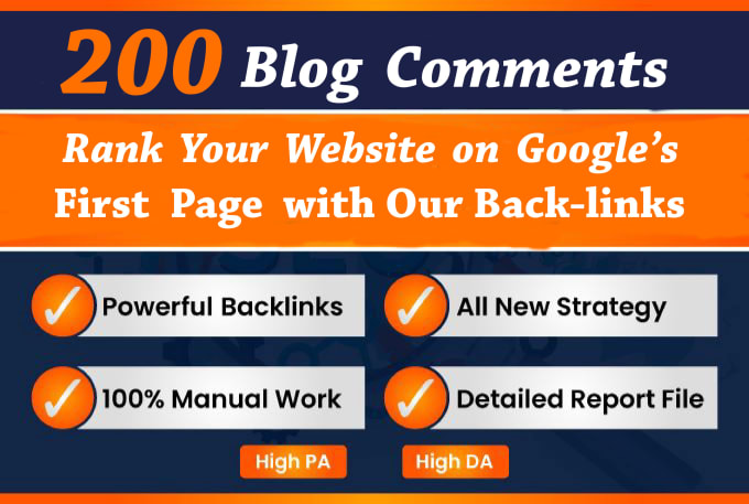 I will create 200 high quality Blog Comments