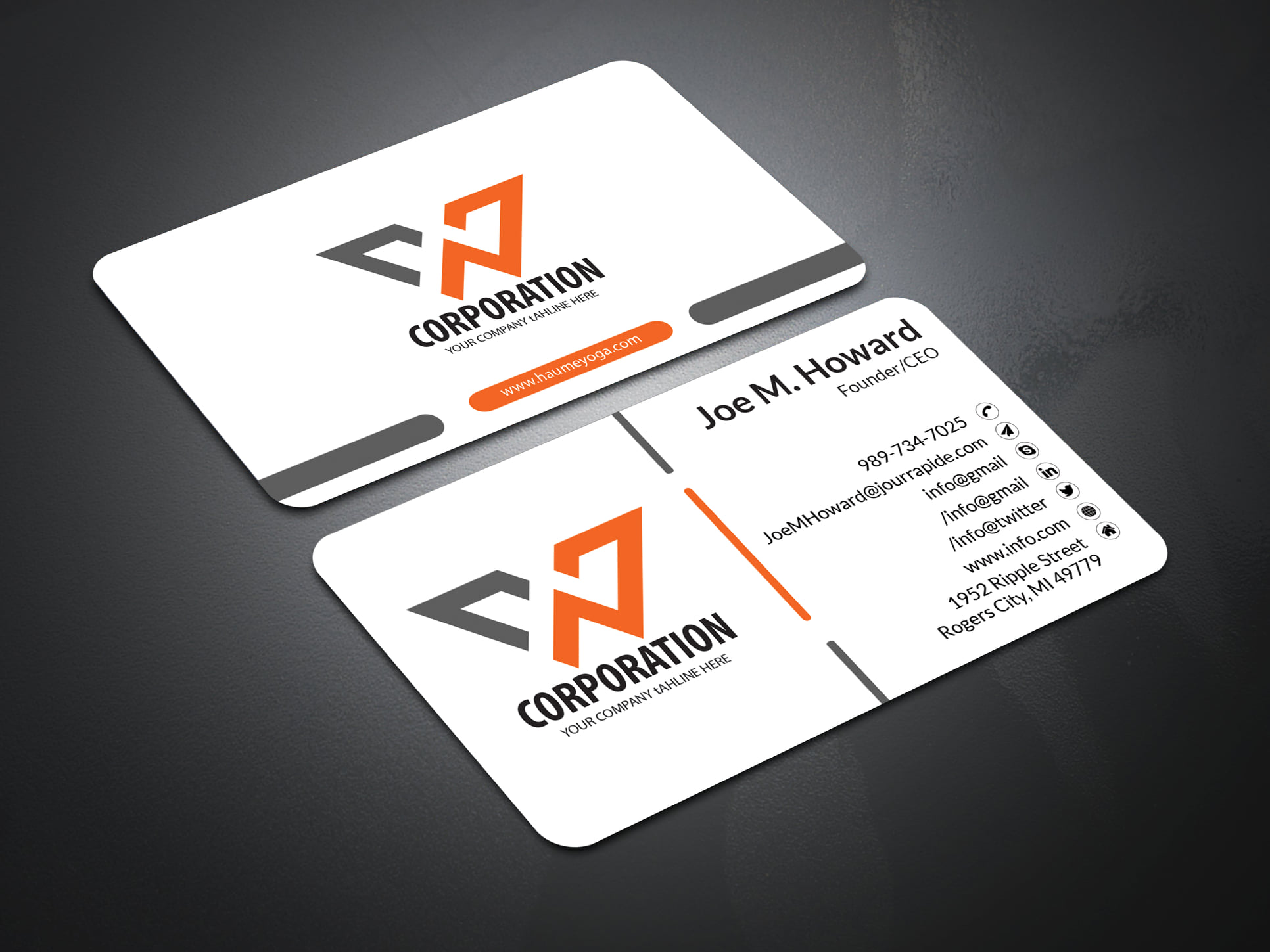 I Will Create a Business Card Two Side