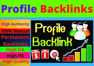 25 Profile Backlinks High Authority Permanent Dofollow unique domain white hat seo backlinks