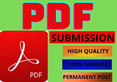 20 PDF Submission High Authority Low Spam Score Website Permanent Dofollow Backlinks