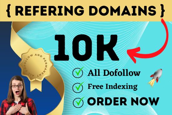 I will build referring domain 10k seo back links for top ranking