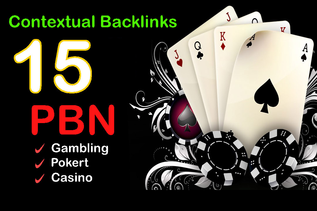 Build Niche Relevant 15 PBN Contextual Dofollow Backlinks for Gambling/casino/Poker Websites