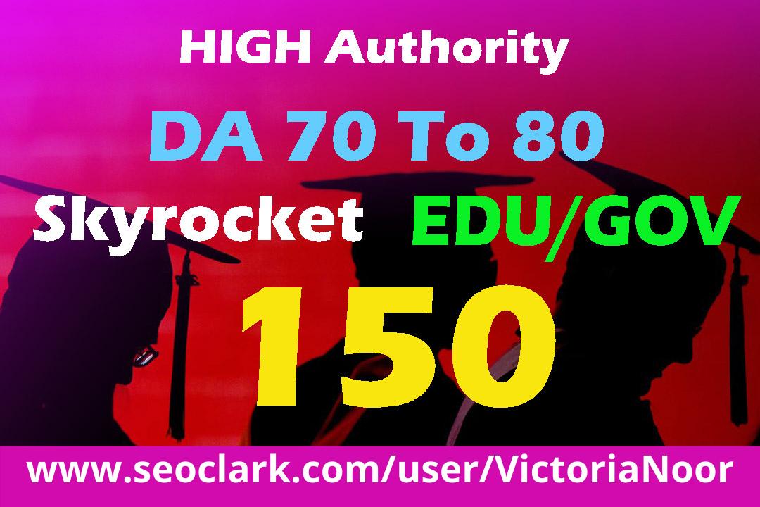 Build HQ 150 EDU/GOV 80+ High Domain Authority Backlinks