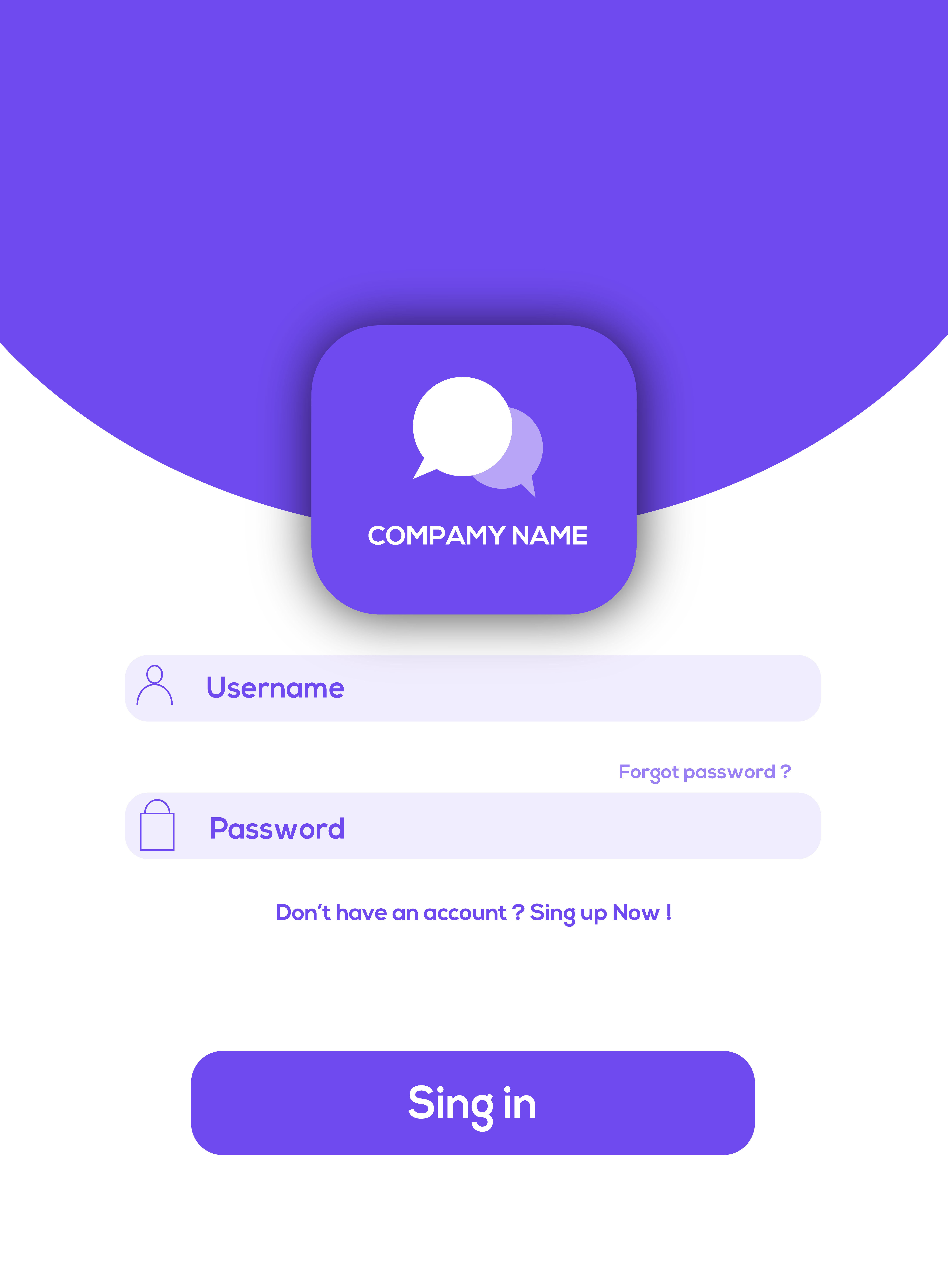 I will give you creative login and register page for your site