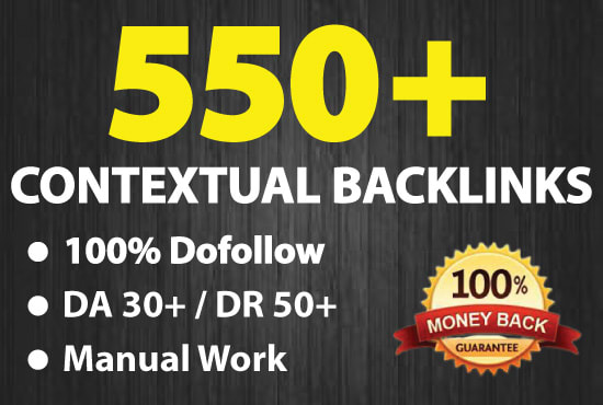 I Will Make 550 High Quality Contextual SEO Dofollow Backlinks - Off Page SEO
