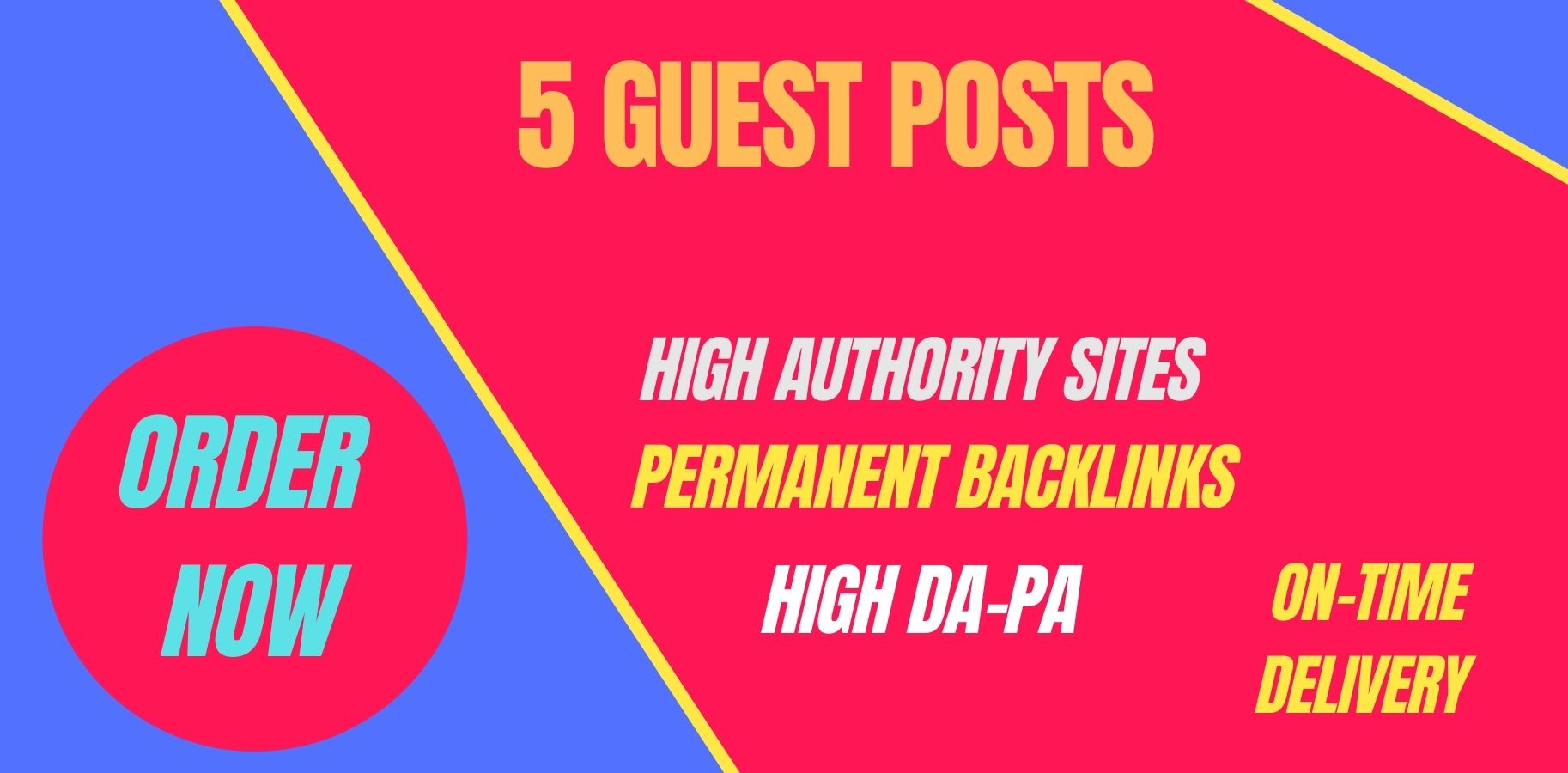 I will write and publish 5 guest posts on high DA PA sites