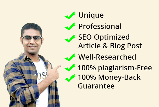 I will do SEO optimized Article & Blog Post writing in 24 hours