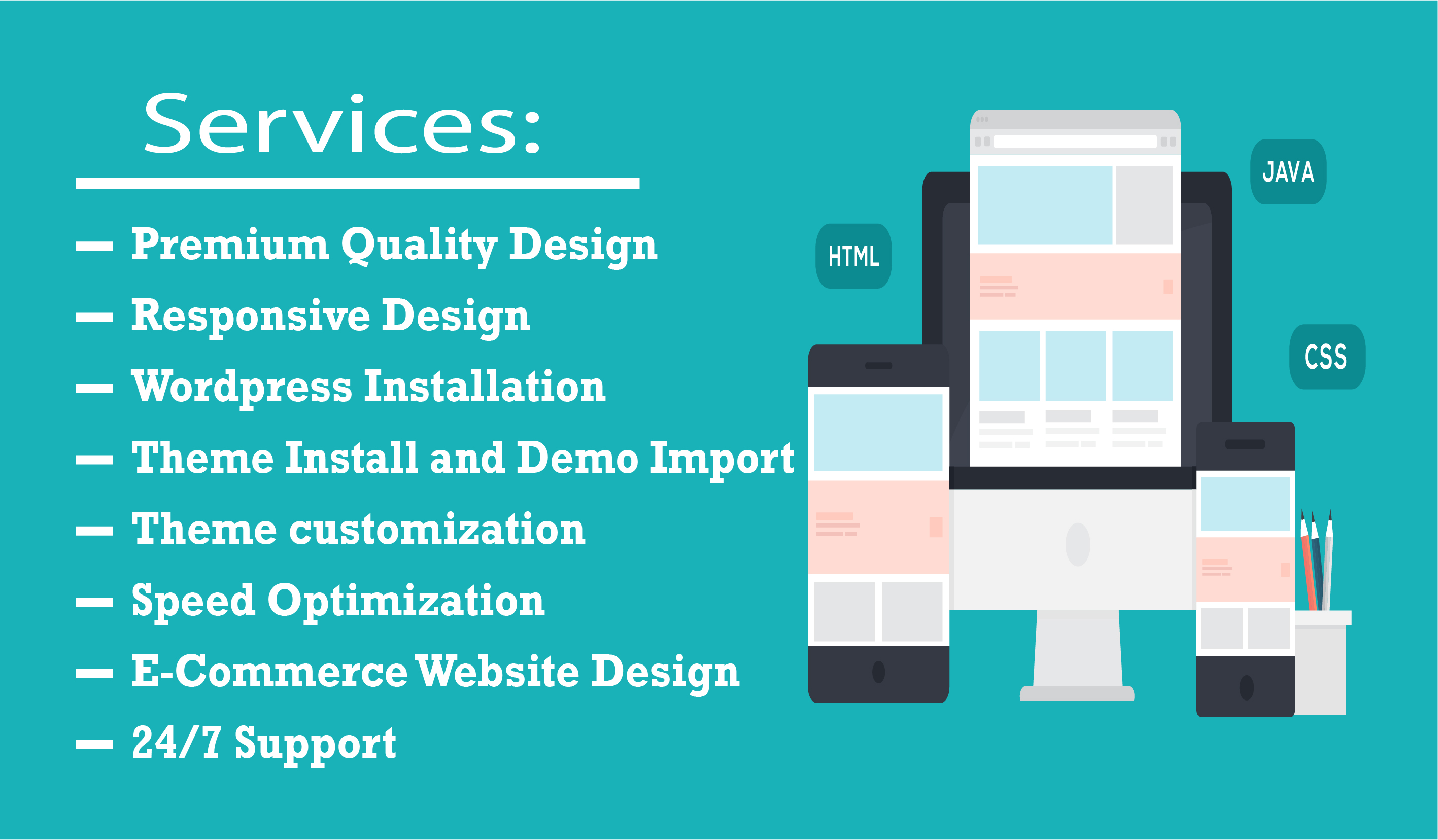 I will do responsive wordpress website design and landing page