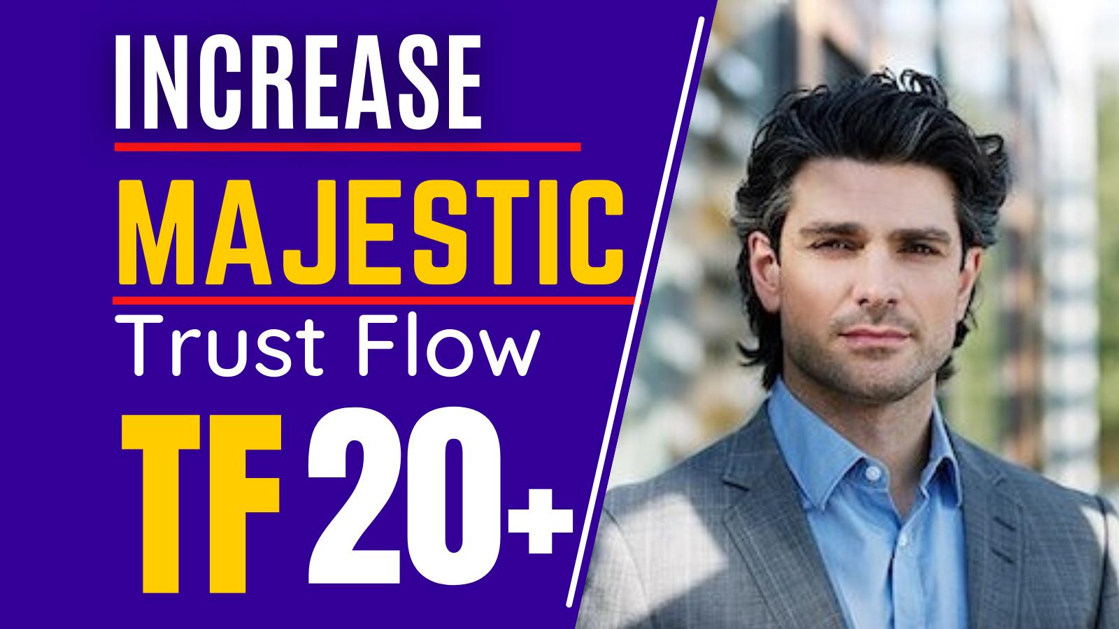 I will increase Trust Flow Majestic TF 20 plus guaranteed