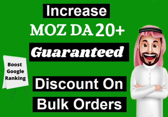 increase domain authority increase moz da 20 plus