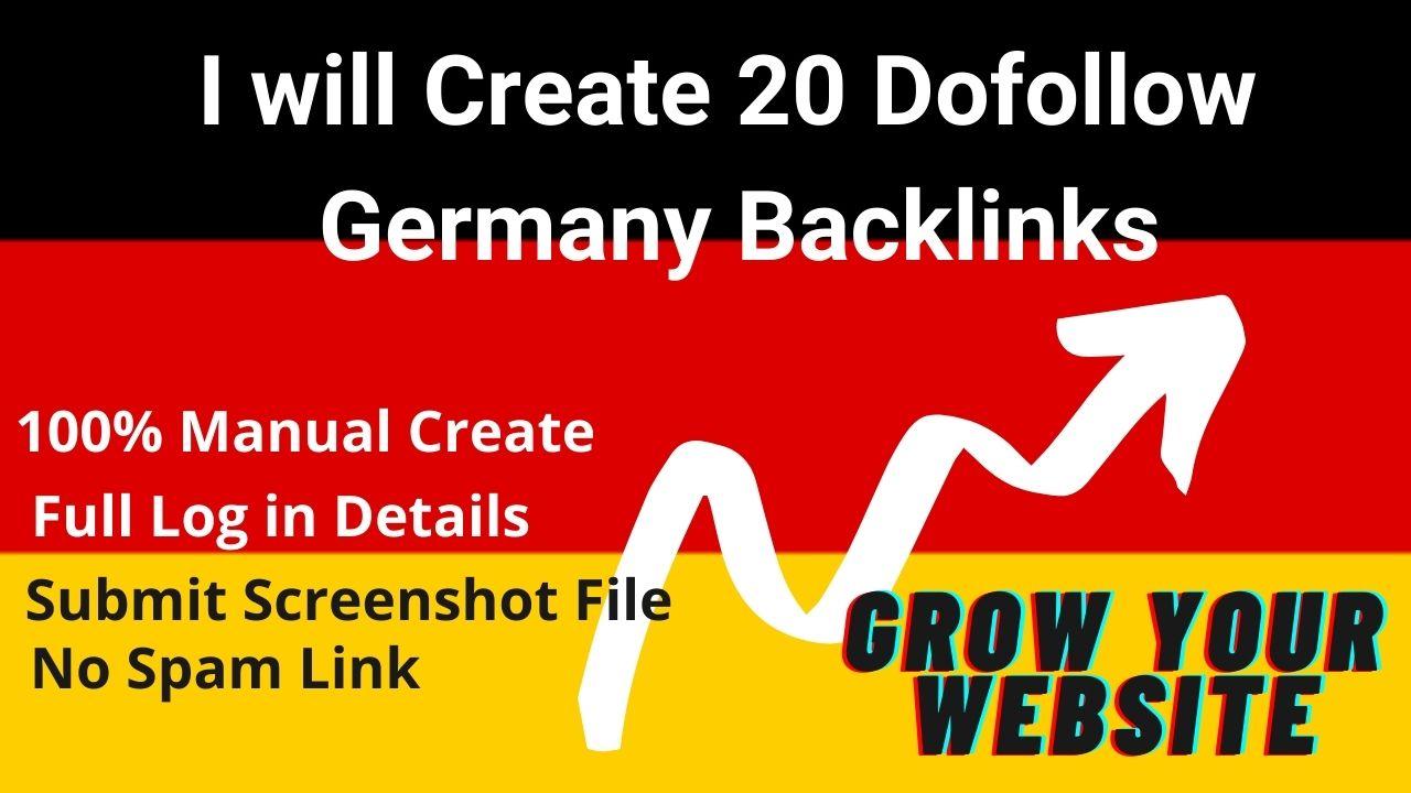 I Will Create 20 Dofollow Germany Backlinks