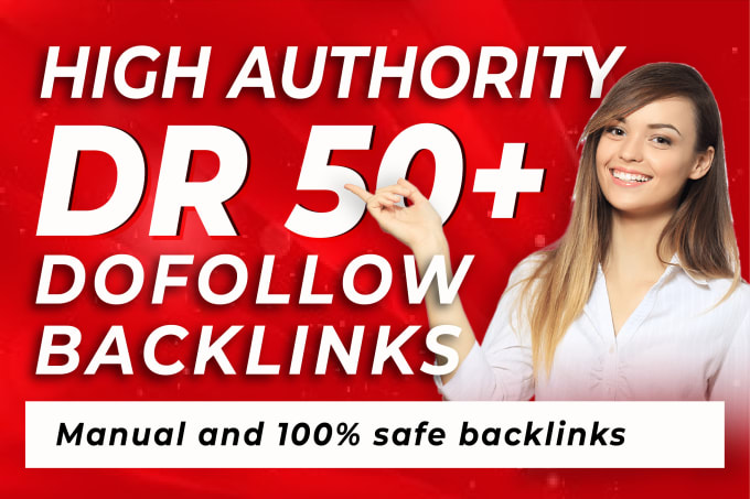 I will create high authority DR 60 to 80 SEO dofollow backlinks