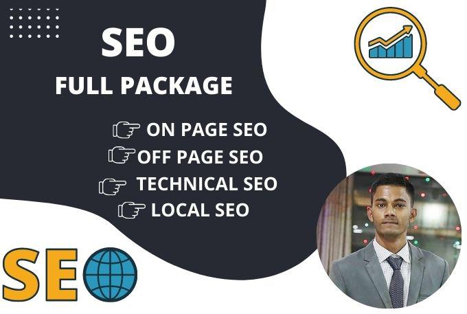 I will seo full package of wordpress website