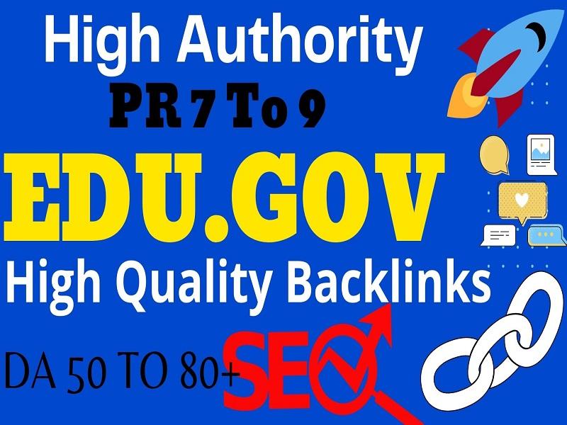I will manually do 10 Pr9 + Edu-Gov High Domains Authority Backlinks