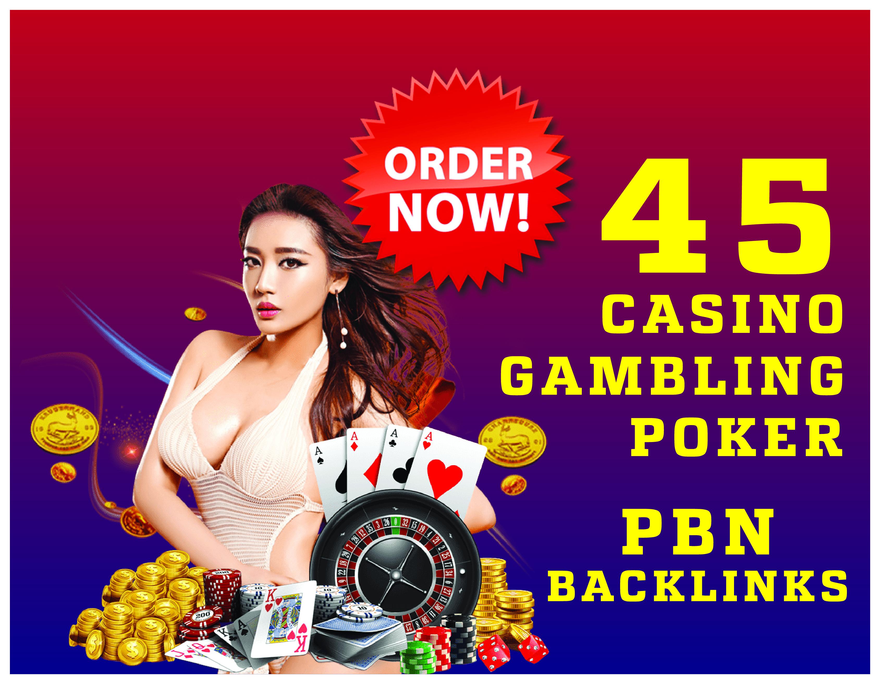 45 HQ PBN Casino Backlinks For Ranking