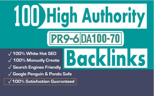 I Will Manually Do 25 Pr9 DA 80+ Safe SEO High Authority Backlinks 2019 Best Results