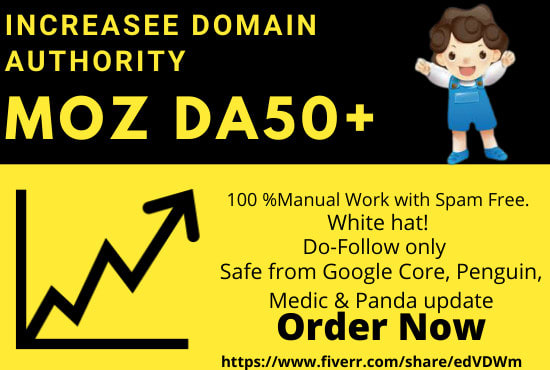 Increase Moz Domain Authority DA50+ Within A Week