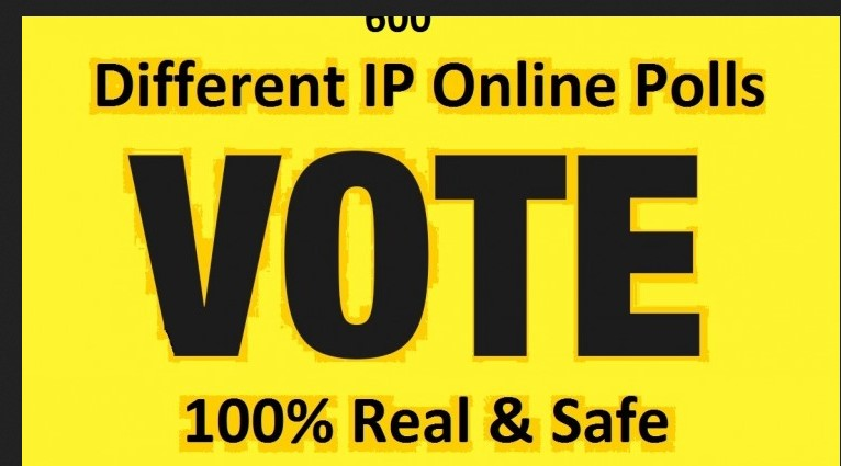 I will provide you 500 different ip online polls votes.