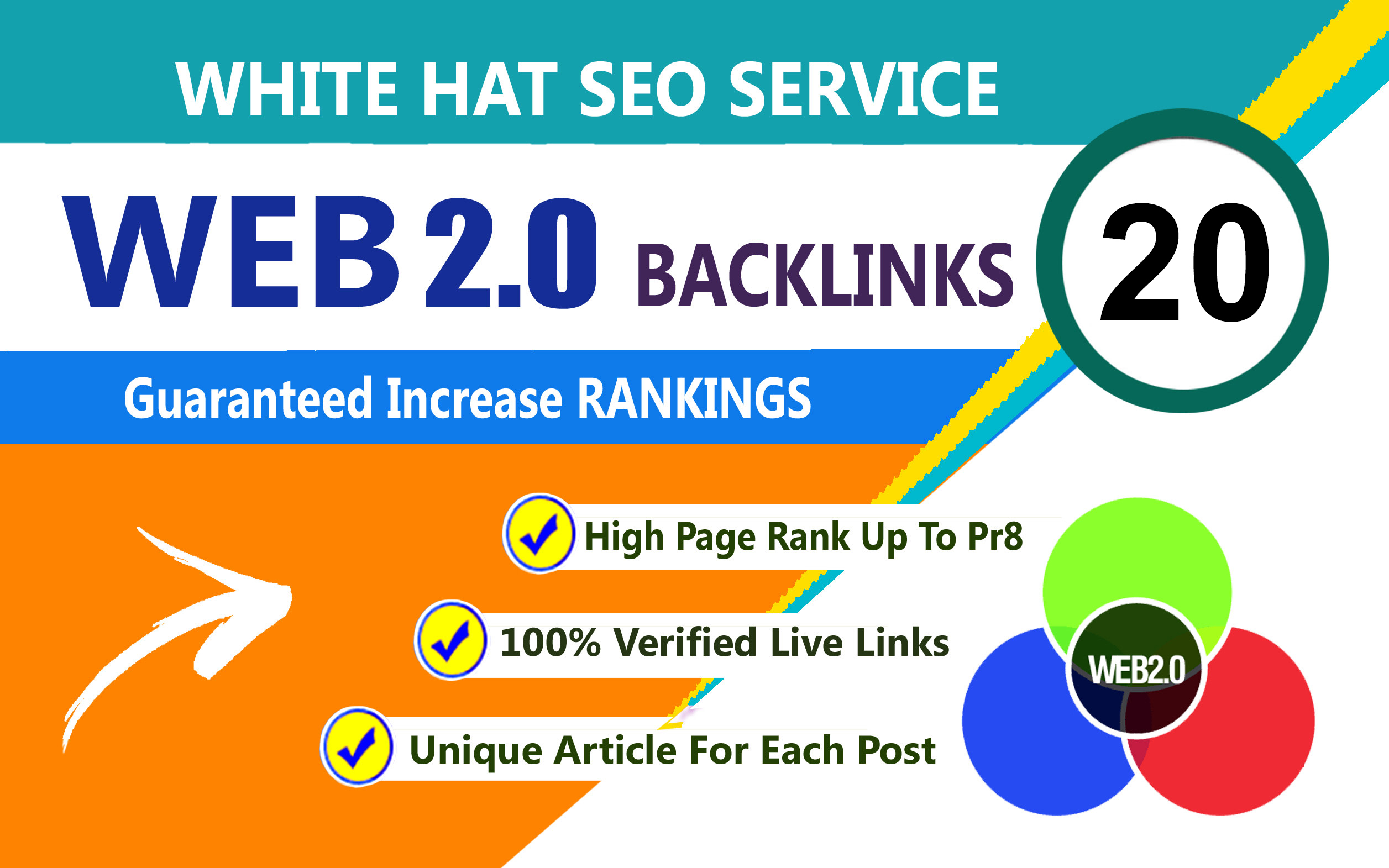 Create 20 web 2.0 High Quality backlinks for your website.